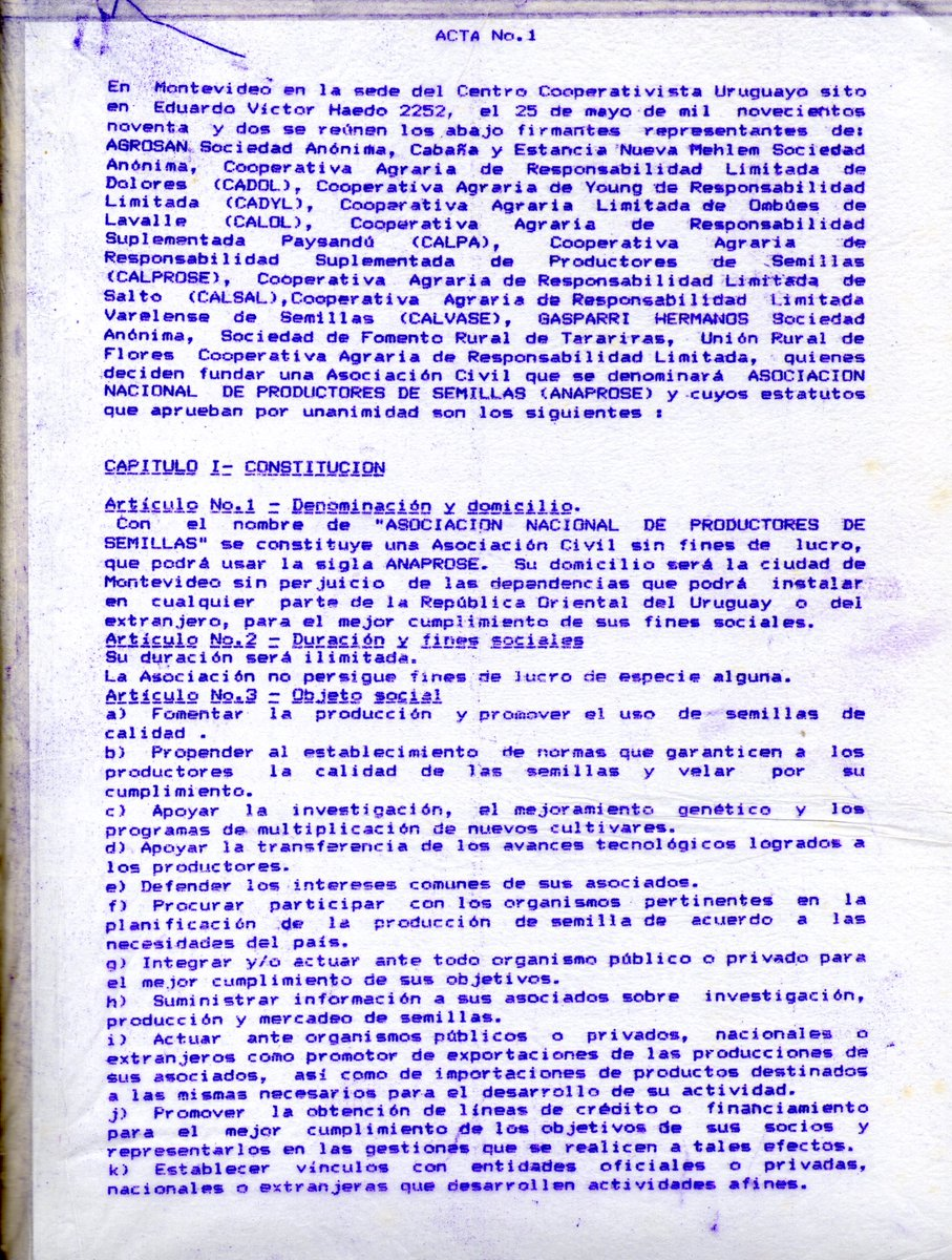 test Twitter Media - Primer Acta de Anaprose, año 1992 👇🏼 https://t.co/FuUcf67VHk