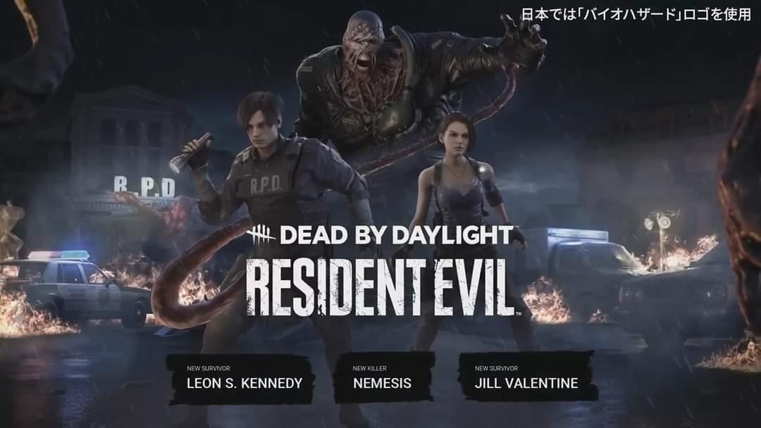 Dead by Daylight x Resident Evil!  Survivor:  ⭐  JILL VALENTINE 🚨  LEON S. KENNEDY  Killer:  🔪 Nemesis  New map: 🚔 R.P.D.  Premiere on June 15.   #DeadbyDaylight #ResidentEvil #Capcom @DeadByBHVR @RE_Games https://t.co/RJGNGB46Dx