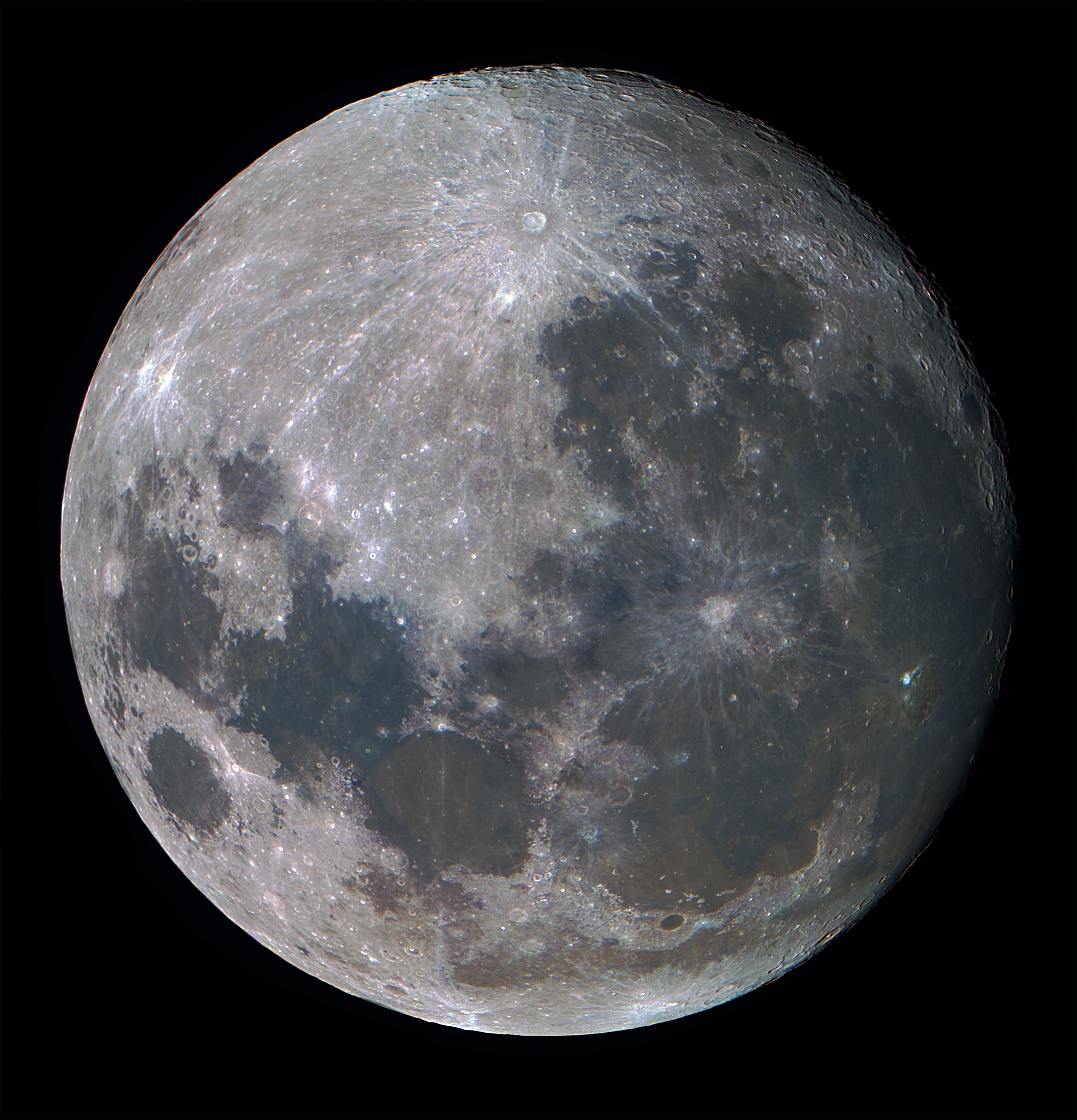 High resolution, close-up photograph of the Earth's moon.