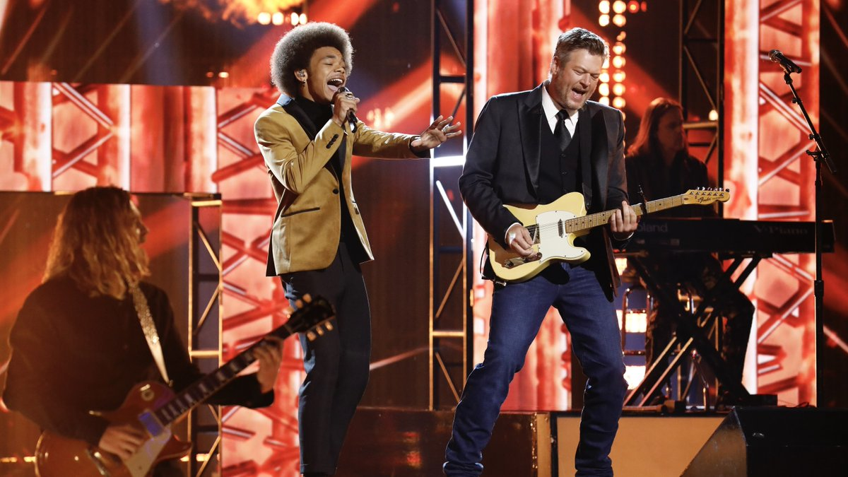.@CamAnthony & @jmyoungmusic's duets with @BlakeShelton are #VoiceFinale perfection. 🤩 #TeamBlake https://t.co/HWWi6oerzT