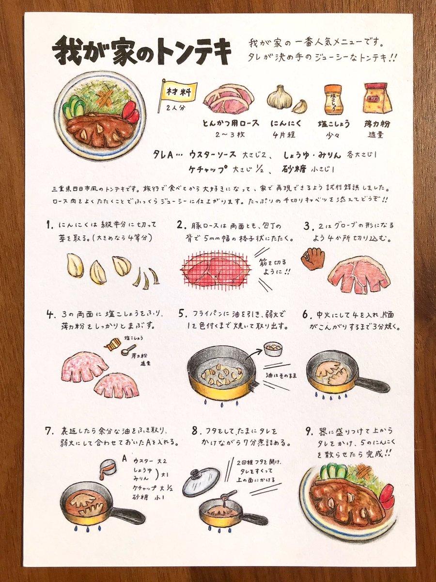 イラスト付きで分かりやすい!とっても美味しそうな「トンテキ」のレシピ!
