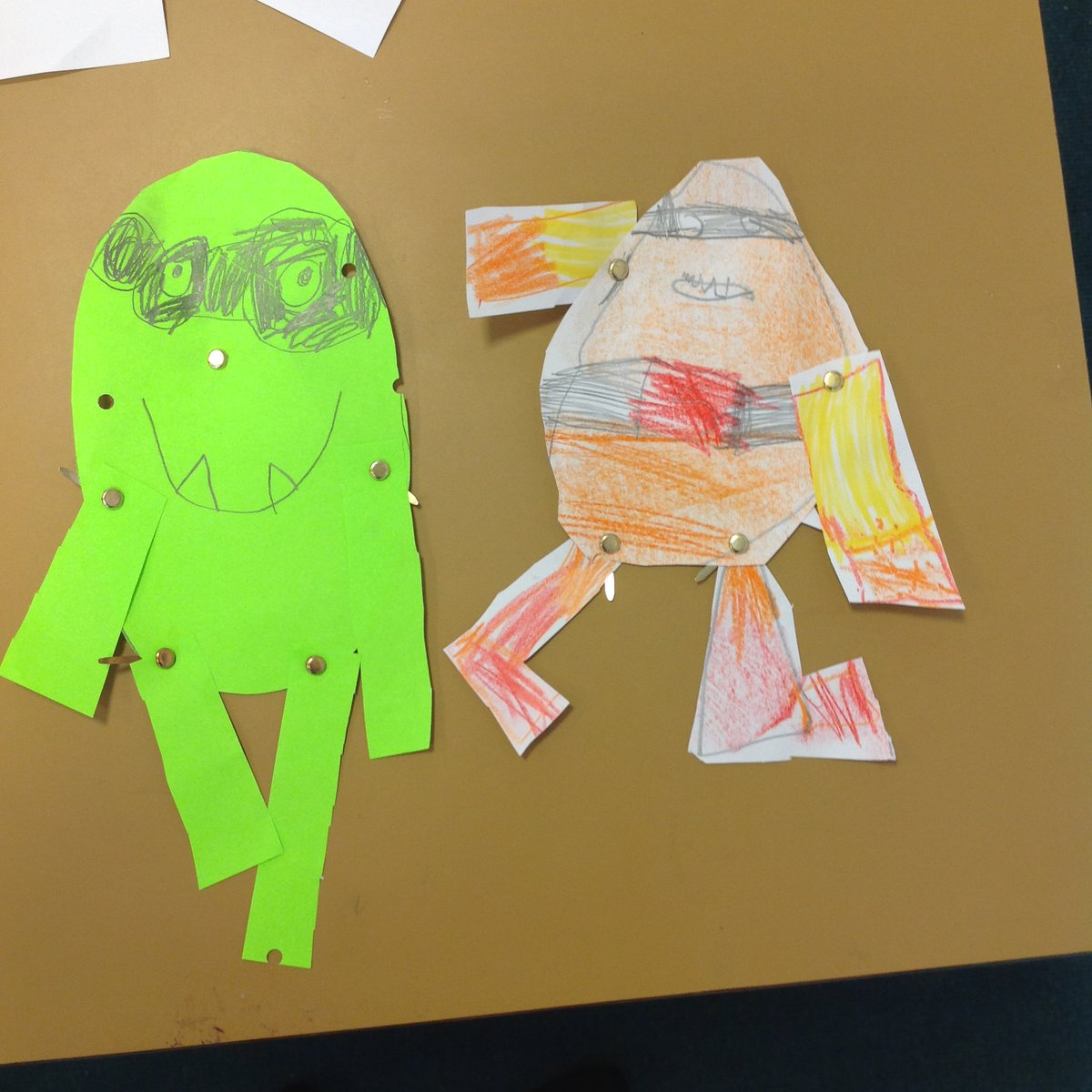 Last week, Reception loved reading the new #Supertato book 'Veggies Assemble'. The children used split pins to create these fantastic characters from the story! 🌱