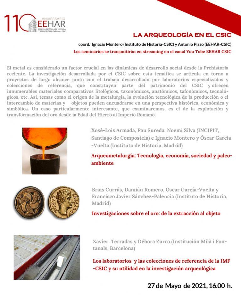 Hoy a las 16h, nueva conferencia online del ciclo 'La Arqueología en el CSIC'. Arqueometalurgia, investigaciones sobre el oro y colecciones de referencia de la @imfcsic y su utilidad en la investigación arqueológica. cc @CCHS_CSIC @IncipitCSIC #EEHAR  👉 https://t.co/vxiTZIwe0Y https://t.co/EtYtChKFqA