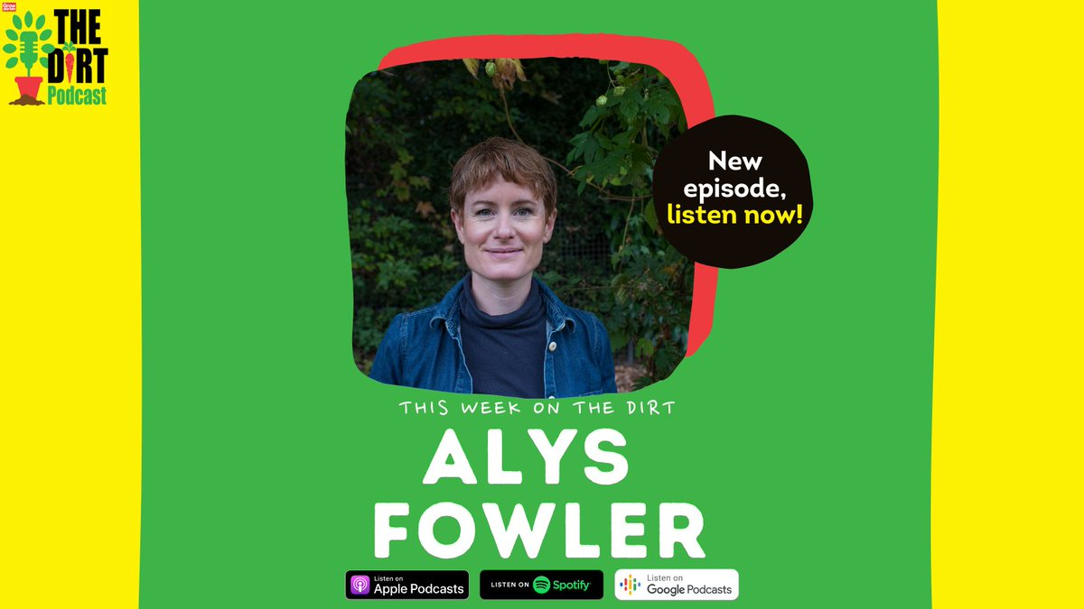 👋NEW EPISODE: This week on The Dirt we were joined by author and growing expert @alysfowler - who was so full of garden insight, growing advice and great stories!  LISTEN: https://t.co/plJflOkI0L   #green @KidsBloomsbury #growyourown #garden #gardening #eco @enviiUK https://t.co/VEQofEk5xw