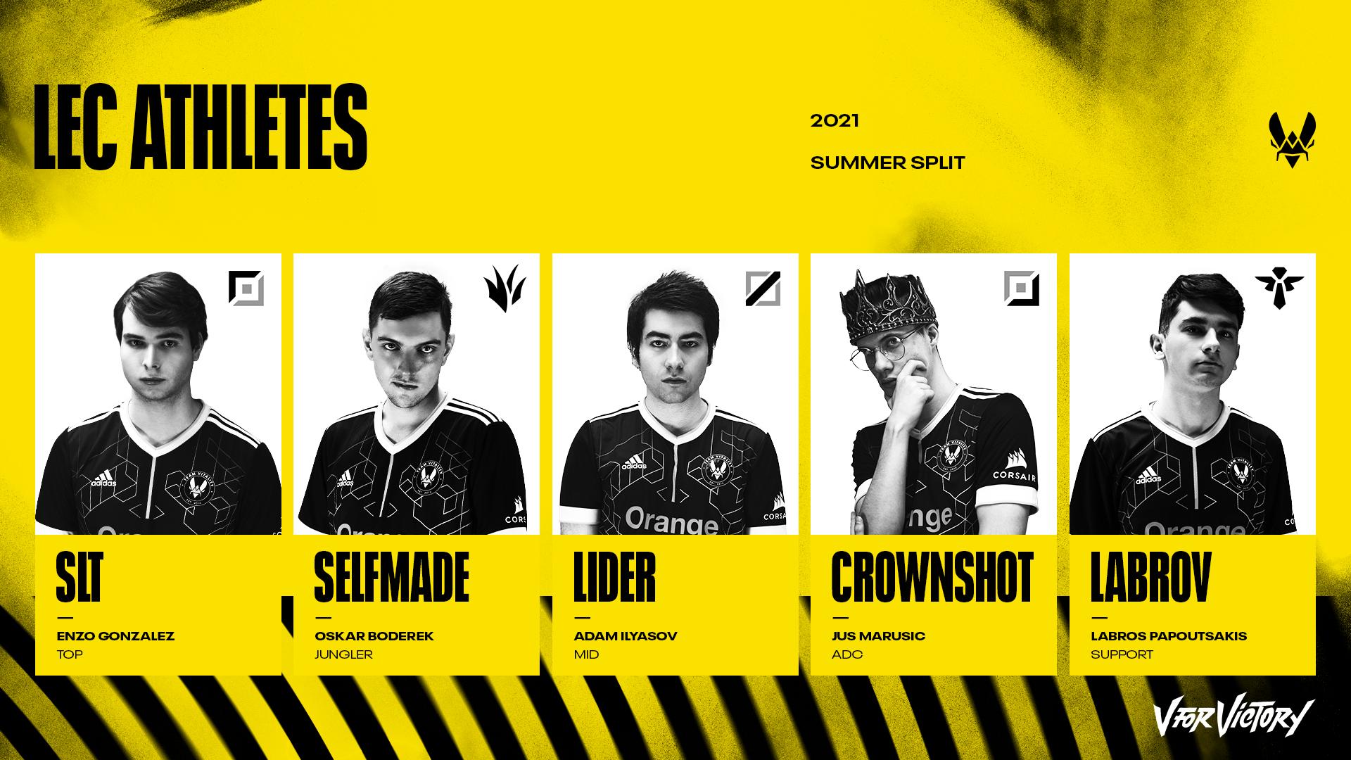 Team Vitality 2021 LEC Summer Split Roster Announcement
