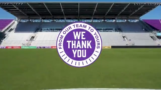 Today's mission is to recognize and celebrate the healthcare heroes that have been on the front lines during the coronavirus pandemic. We appreciate all of you. 💜    @JewettOrtho   #ORLvPOR https://t.co/P5tnFGrsfY