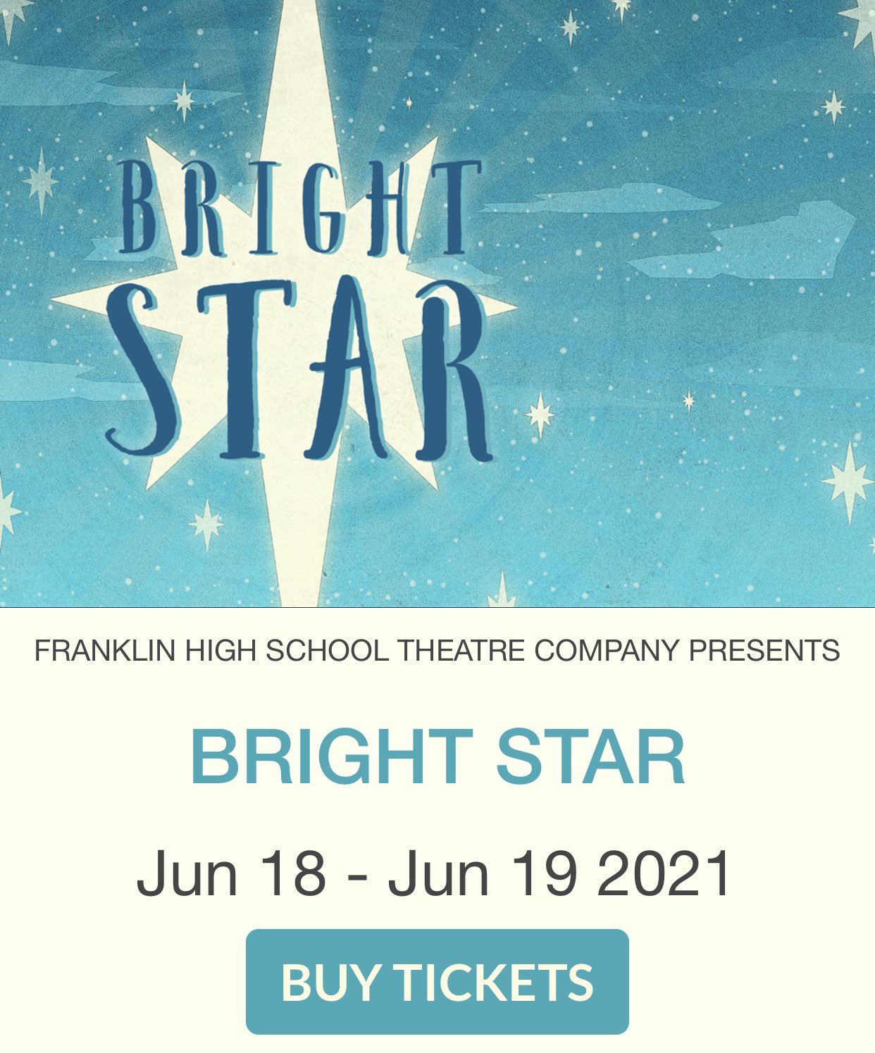 FHS Theatre Company - Our ticket sales are LIVE for Bright Star - Concert Version!