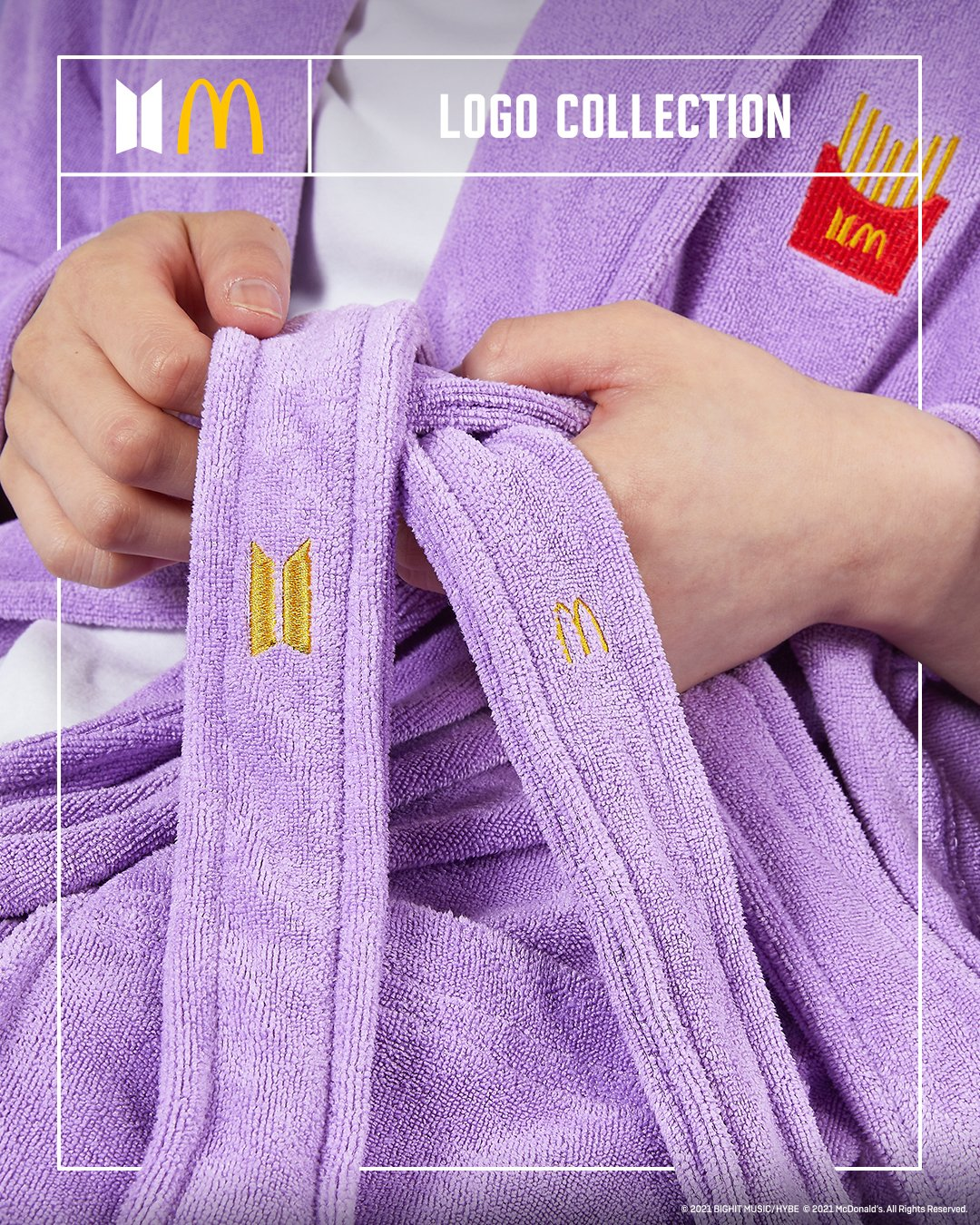 Merchandis edisi terbatas McDonald's x BTS.