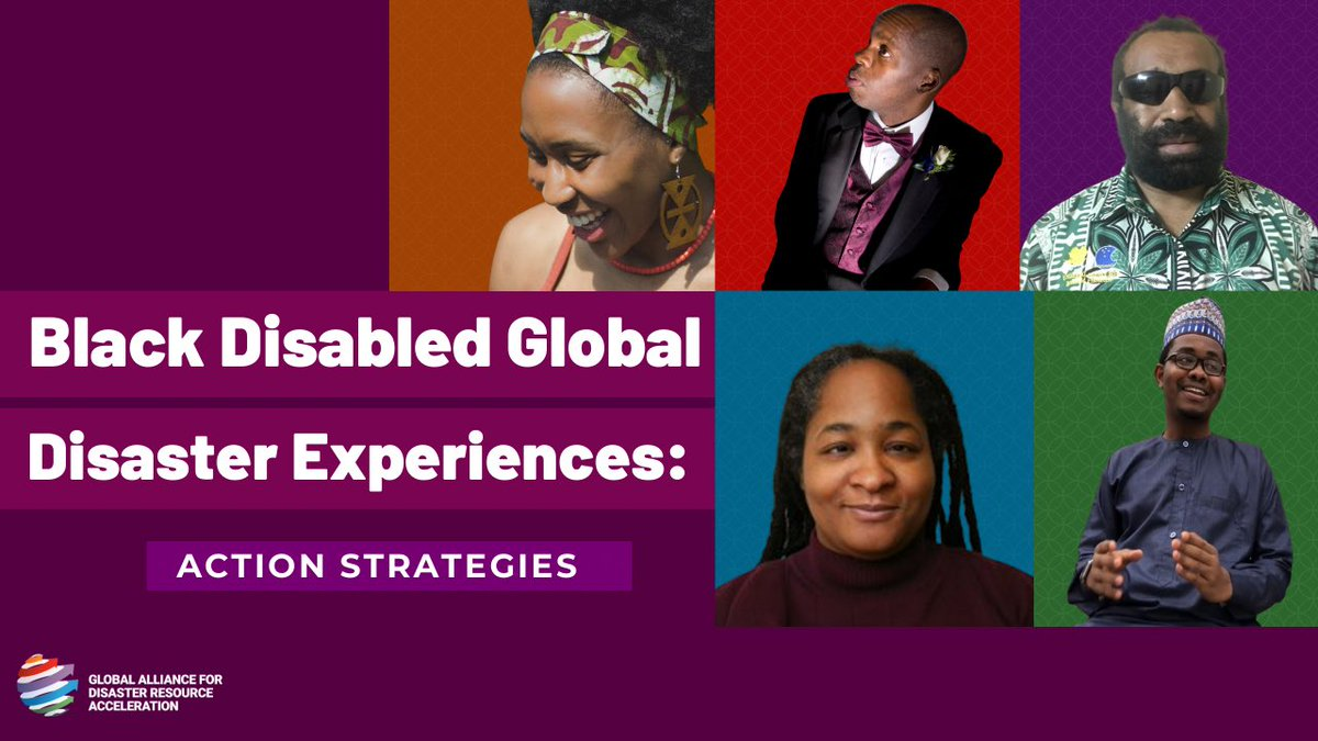 If you were unable to make it to last week's Black Disabled Global Disaster Experiences: Action Strategies event or want to watch it again, you can access the full event on our YouTube channel with American Sign Language, closed captions and transcripts: youtu.be/TbDTJizz9SA