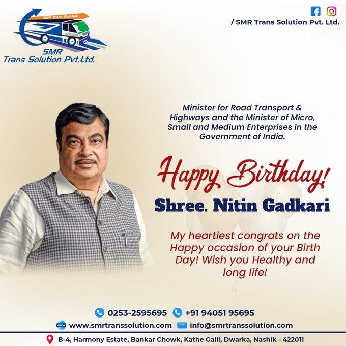 Happy birthday Sh.Nitin Gadkari ji