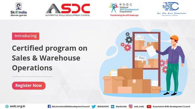 "Automotive Skills Development Council Organized ""Certificate Program on Sales & Warehouse Operations"""