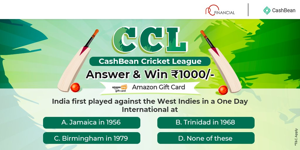 Are you ready for today's #CCL quiz? Answer with the right option in the comments to win #Amazongiftvoucher.  Retweet and share, make sure you follow us here! #contestalertindia https://t.co/VlPJvDvjwc