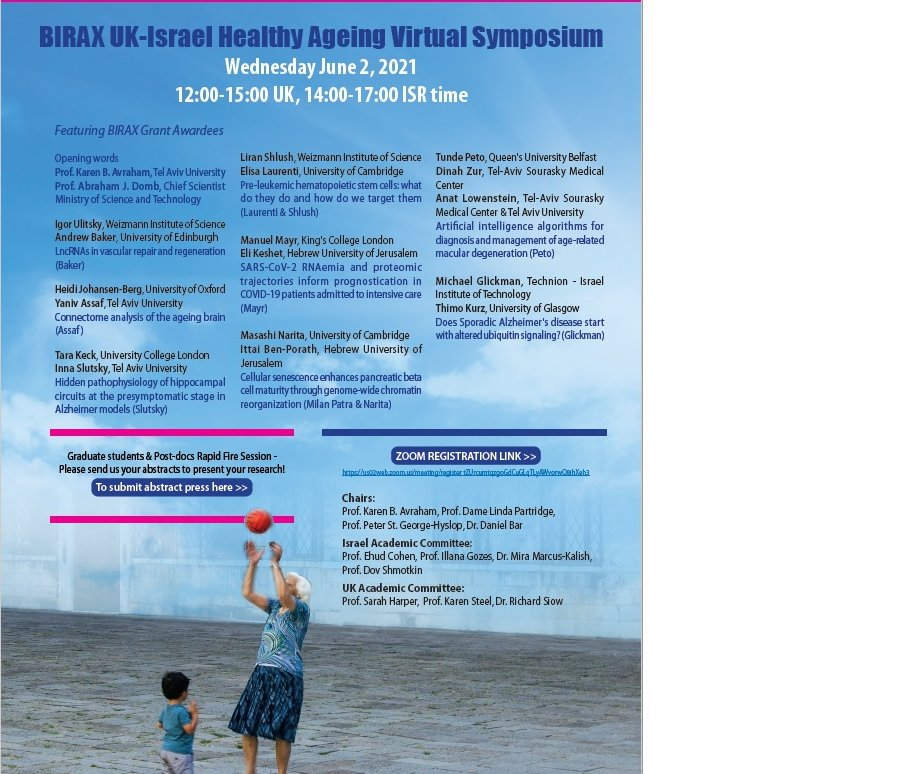 Very excited to be part of the #BIRAX Healthy Ageing virtual Symposium happening in just 6 days, on Wednesday 2nd of June!