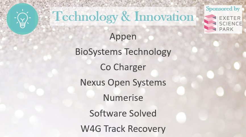 Congratulations to the finalists of the Technology and Innovation Award! We're very proud to sponsor the @ExeterLivingAwd 👏🏆