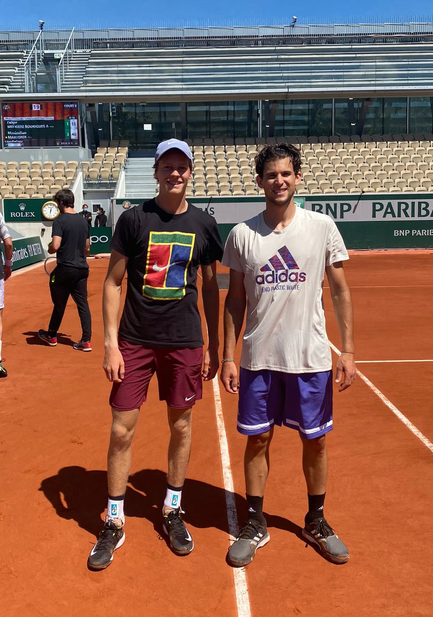 Thanks for the practice @ThiemDomi, always great to hit with you 💪🏼 Good luck for the tournament 👊🏼 https://t.co/r87ai2I6Eo