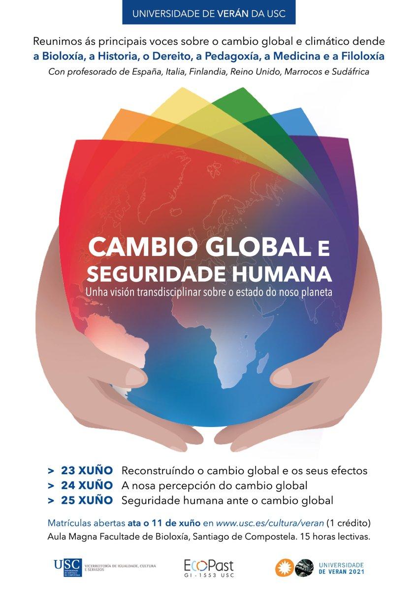 Noemí Silva-Sánchez, investigadora postdoutoral no Incipit está a co-organizar un curso de verán @UniversidadeUSC sobre CAMBIO GLOBAL E SEGURIDADE HUMANA. Matrícula aberta ata o 11 de xuño! +info: https://t.co/jLMIvPveeD https://t.co/DeQd7UkMs2