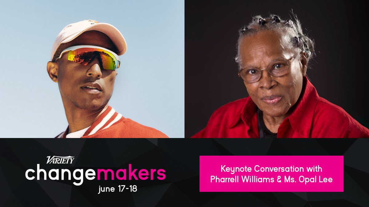 Don't miss an exclusive keynote conversation with Pharrell Williams and social impact leader and Grandmother of Juneteenth, Ms. Opal Lee at #VarietyChangemakers. Register today. https://t.co/gxlYZLxhRh https://t.co/QMreO0NJk9