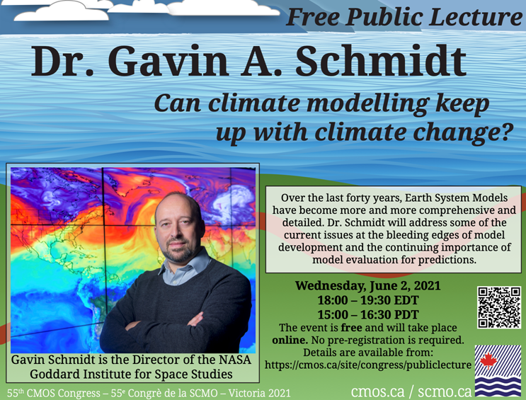test Twitter Media - Can climate modelling keep up with climate change?   @CMOS_SCMO is presenting a free public lecture by @ClimateOfGavin about the challenges of connecting land, air and sea in climate models.   June 2 at 5:00pm CDT.  Details: https://t.co/gtGwT8J3E7 https://t.co/nGh5jlVGBh
