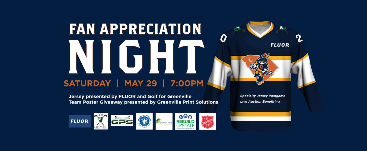Come out and support! @SwampRabbits @FluorCorp