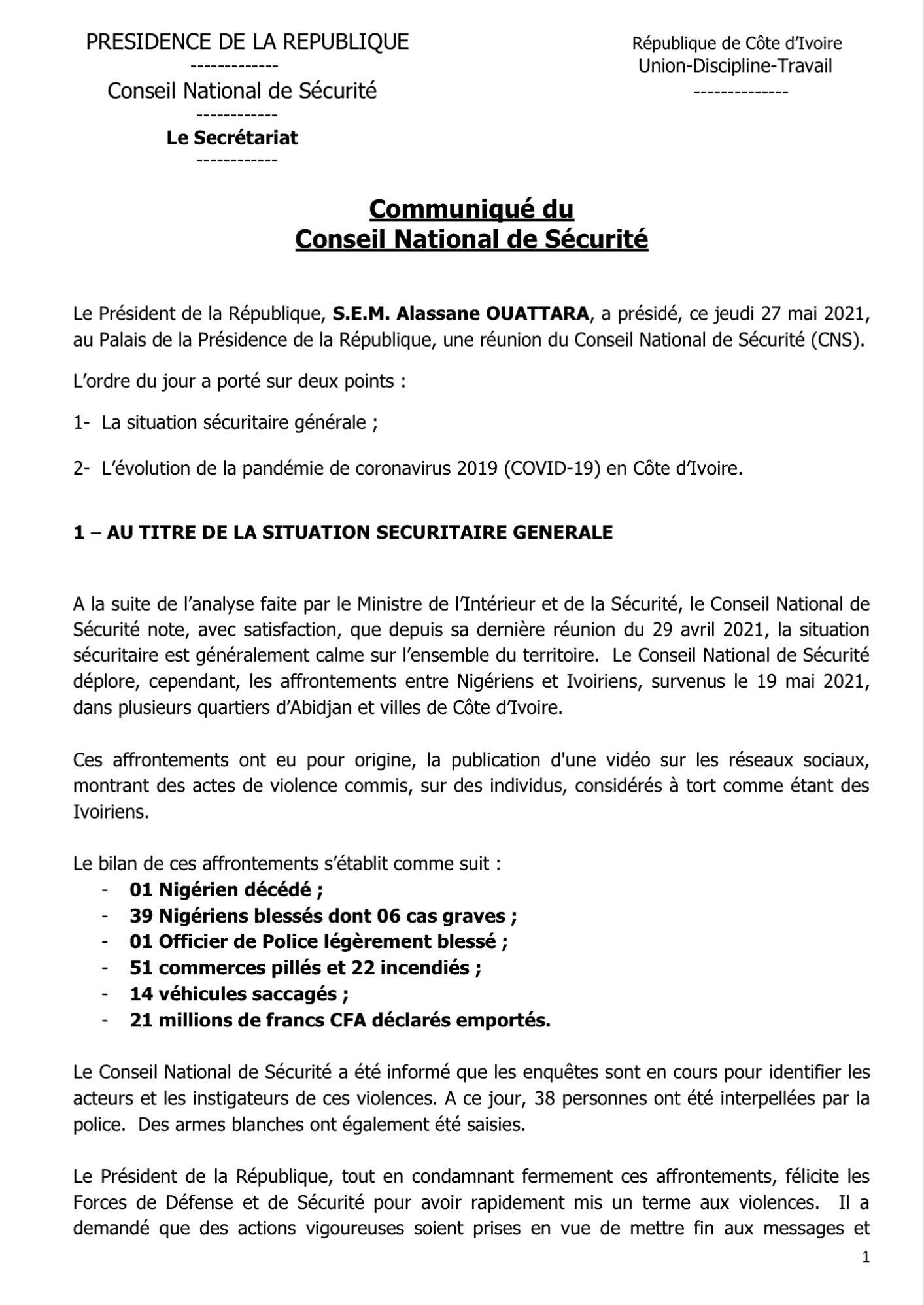 Côte d'Ivoire-Violences contre les Nigériens/ Voici le bilan définitif et ce qui se prépare