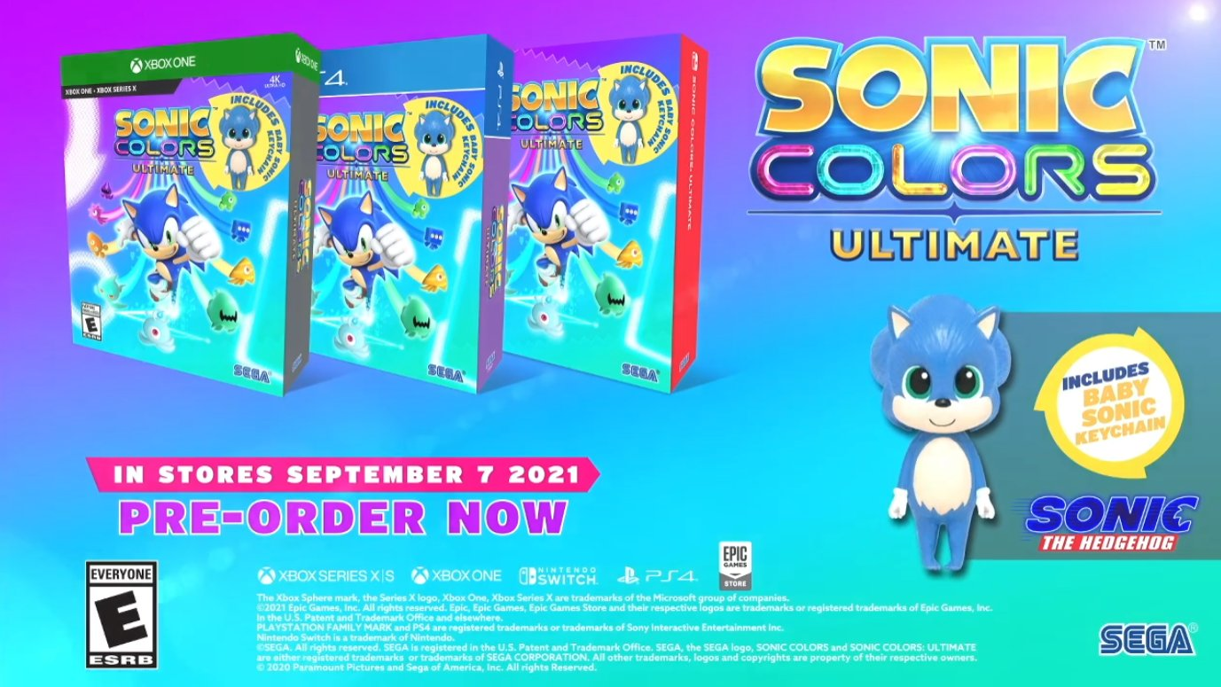 Sonic Colors Ultimate pre order preorden Amazon. Tierragamer