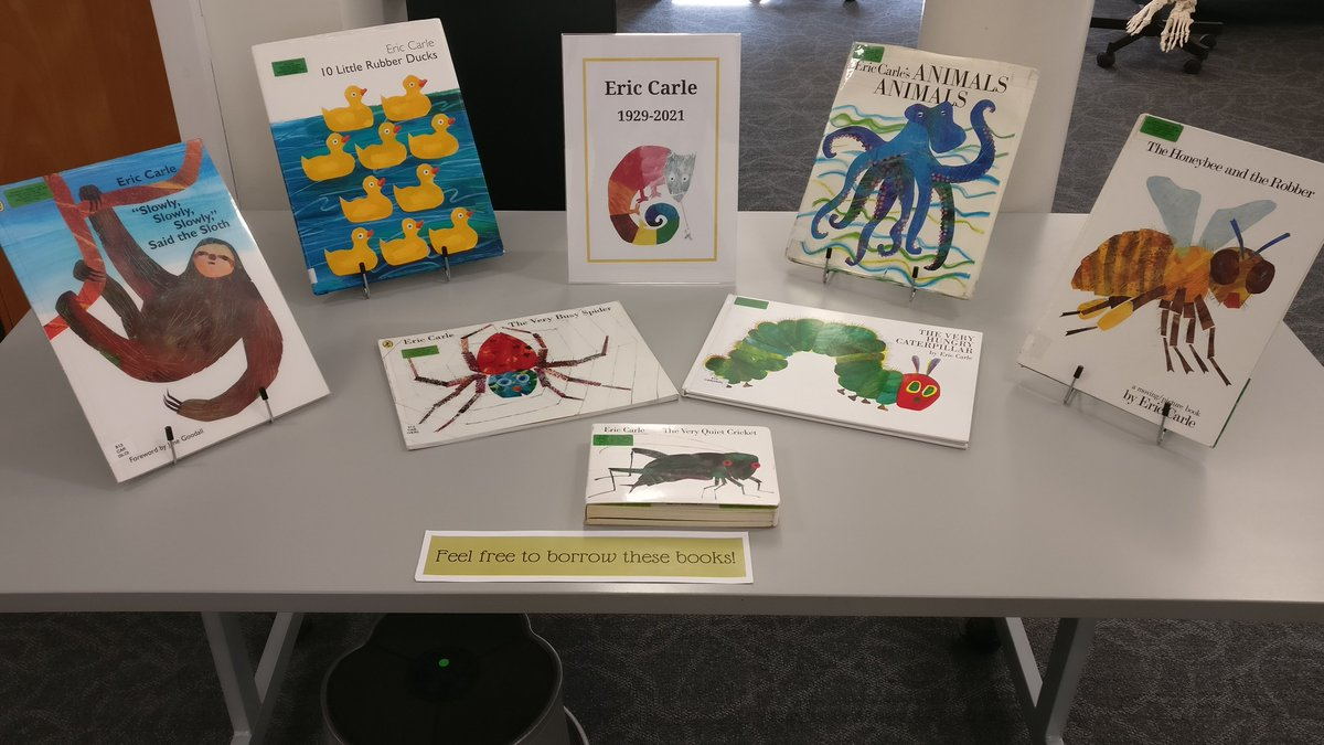 #RememberingEricCarle the way we know how - with a pop-up display of (some of) his works. https://t.co/9VQ0fPbhed