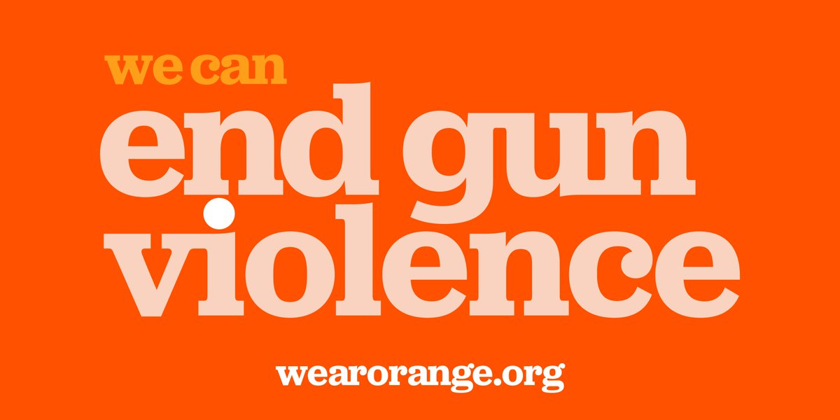 The gun violence crisis in America claims more than 100 lives and wounds hundreds more every day.  Today on National Gun Violence Awareness Day, we #WearOrange in solidarity. Together, we can end gun violence and save lives.  @Everytown https://t.co/oGakrS61E6