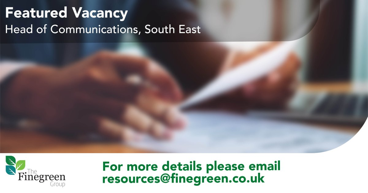 **Featured Vacancy** Head of Communications, South East  The successful candidate will have significant proven experience at a senior level in a communications or public relations function within the NHS.  For more details and to apply; https://t.co/l66uj1vWaM  #NHSJobs https://t.co/gkrFsdpTkX