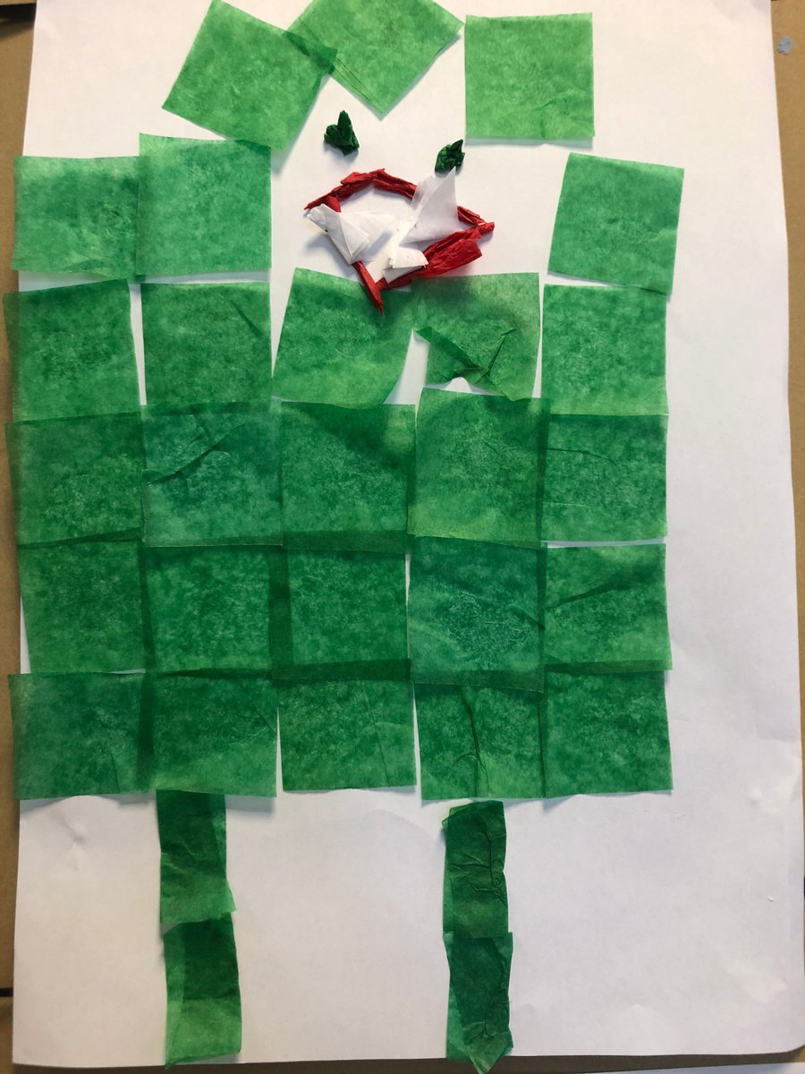 After reading the story 'Pezzettino', Reception class have produced some fantastic inspired artwork around how squares can be folded to make different shapes in our pictures. 🟥🟦🟨