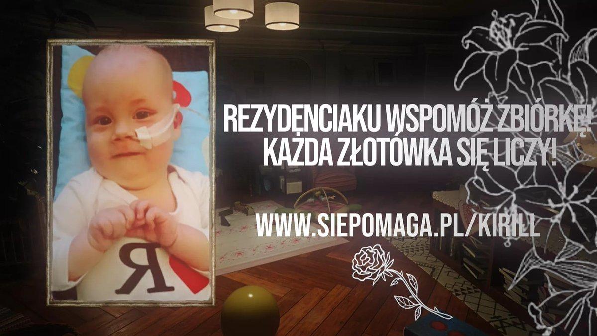 Razem z Heleną Mańkowską prosimy o wsparcie zbiórki charytatywnej dla małego Kirillka. ❤️ Kirill choruje na SMA, rdzeniowy zanik mięśni typu 1, a największym wrogiem chłopca i jego rodziców jest czas oraz cena leku. Lekarstwo kosztuje aż 9 milionów złotych!  #ResidentEvil #Pomoc https://t.co/J8EBsJt6Ip