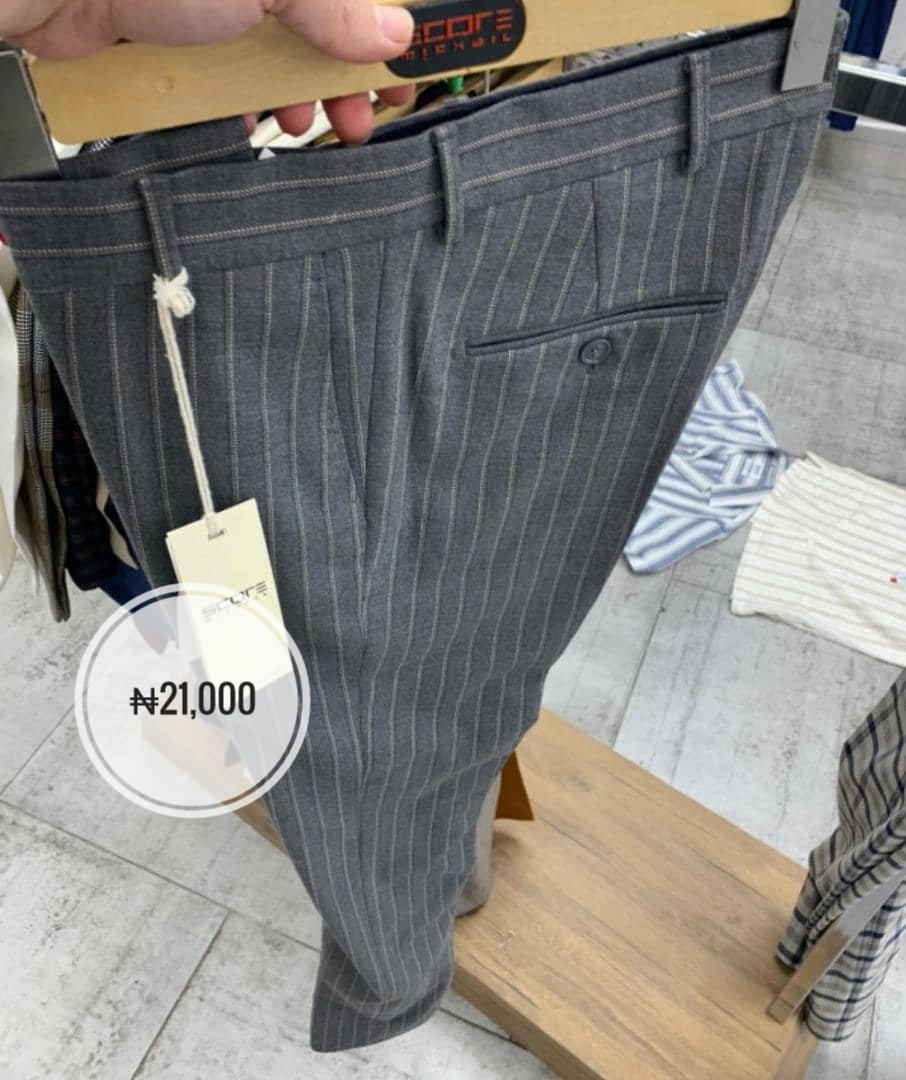 RT @jpeteessentials: Stripe and plaid chinos  30 - 42 https://t.co/ZQLHLC4e0W or DM Lagos Delivery 🌐wide  Turkey 🇹🇷 https://t.co/2g0rn0zp7c