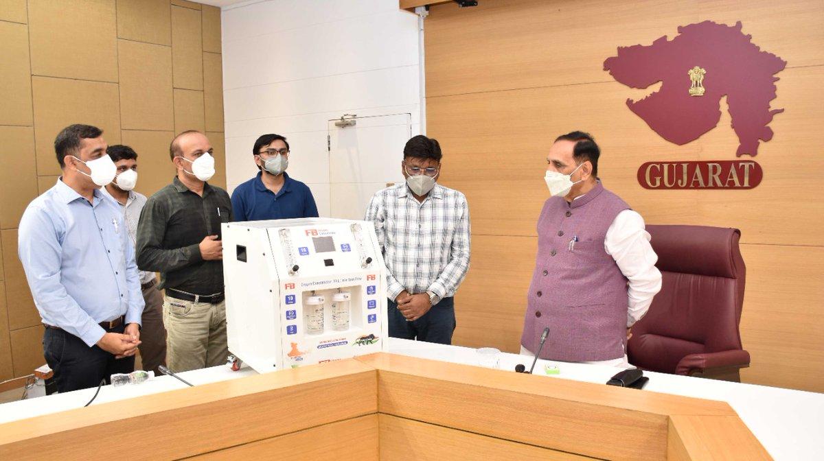 Rajkot firm develops Oxygen Concentrator; gives demonstration to CM