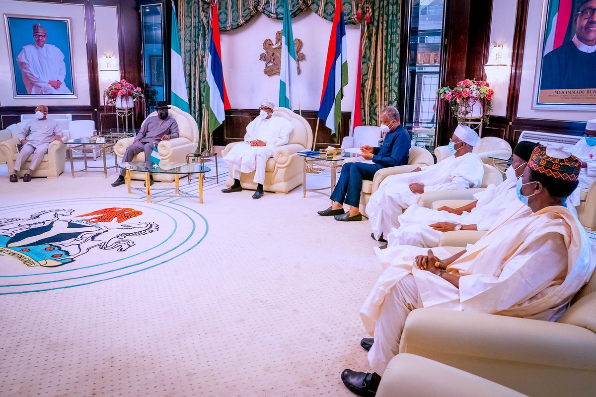 I met with former President Jonathan this morning, on the situation in Mali, where he is ECOWAS Special Envoy & Mediator. I am calling on all actors and stakeholders to come together for the peace, unity and security of Mali. We cannot afford a further escalation of this crisis.