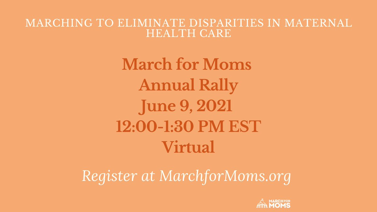 It's not too late to register for @MarchForMoms annual rally! Register here: https://t.co/sskUxGb5Ye
