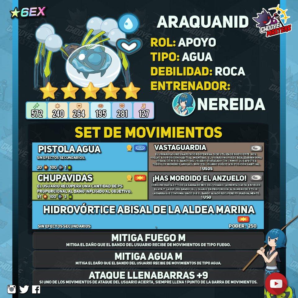 Pokemon Masters Nereida Araquanid