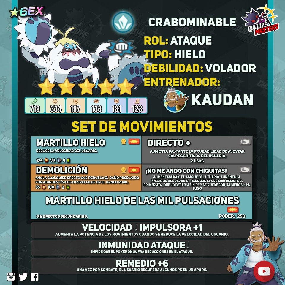 Pokemon Masters Kaudan y Crabominable