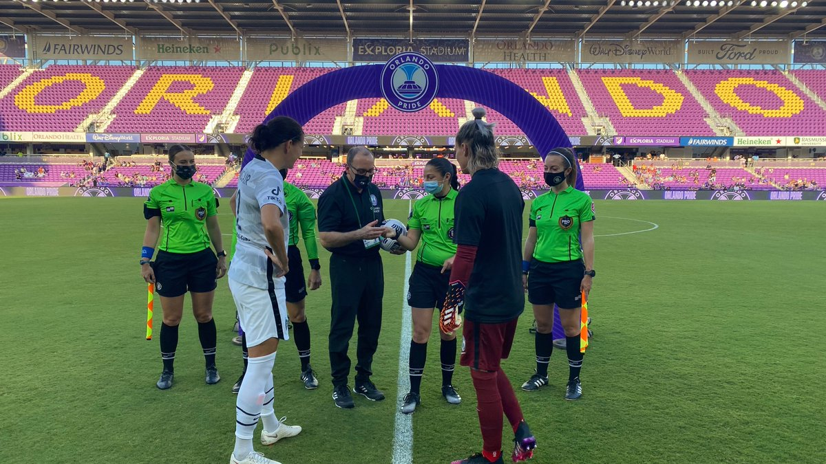 We had a blast at the @ORLPride #HealthcareHeroes match. Join us in congratulating Allie Hogan, a nurse with @WinnieHospital, for being recognized as the Healthcare Hero of the match!  #AdAstra #ChooseOrlandoHealth #nwsl https://t.co/HfxgM4Wf07