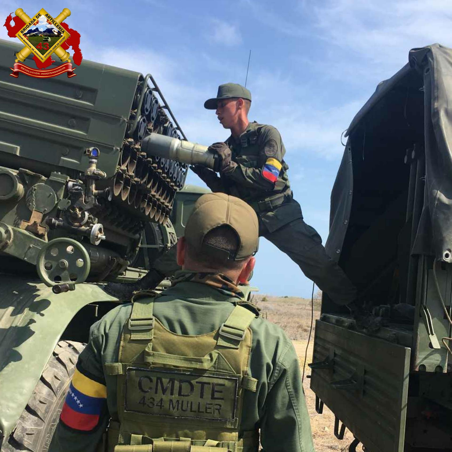 "El Sistema Lanzacohetes Múltiple Autopropulsado BM-21-1 ""Grad"" del Ejército Bolivariano E2hDUXyWYAAtV2d?format=jpg&name=large"