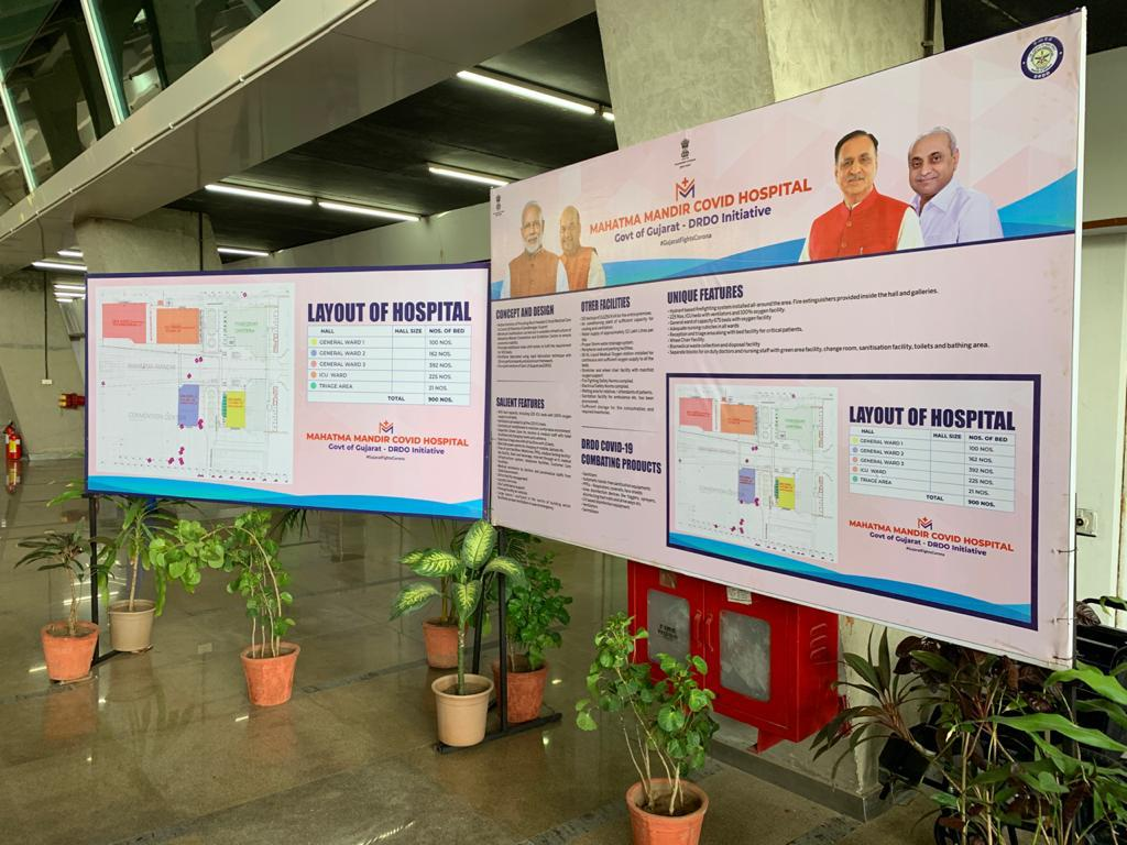 In pictures: New 900-oxygen/ICU bed Covid hospital created at Mahatma Mandir