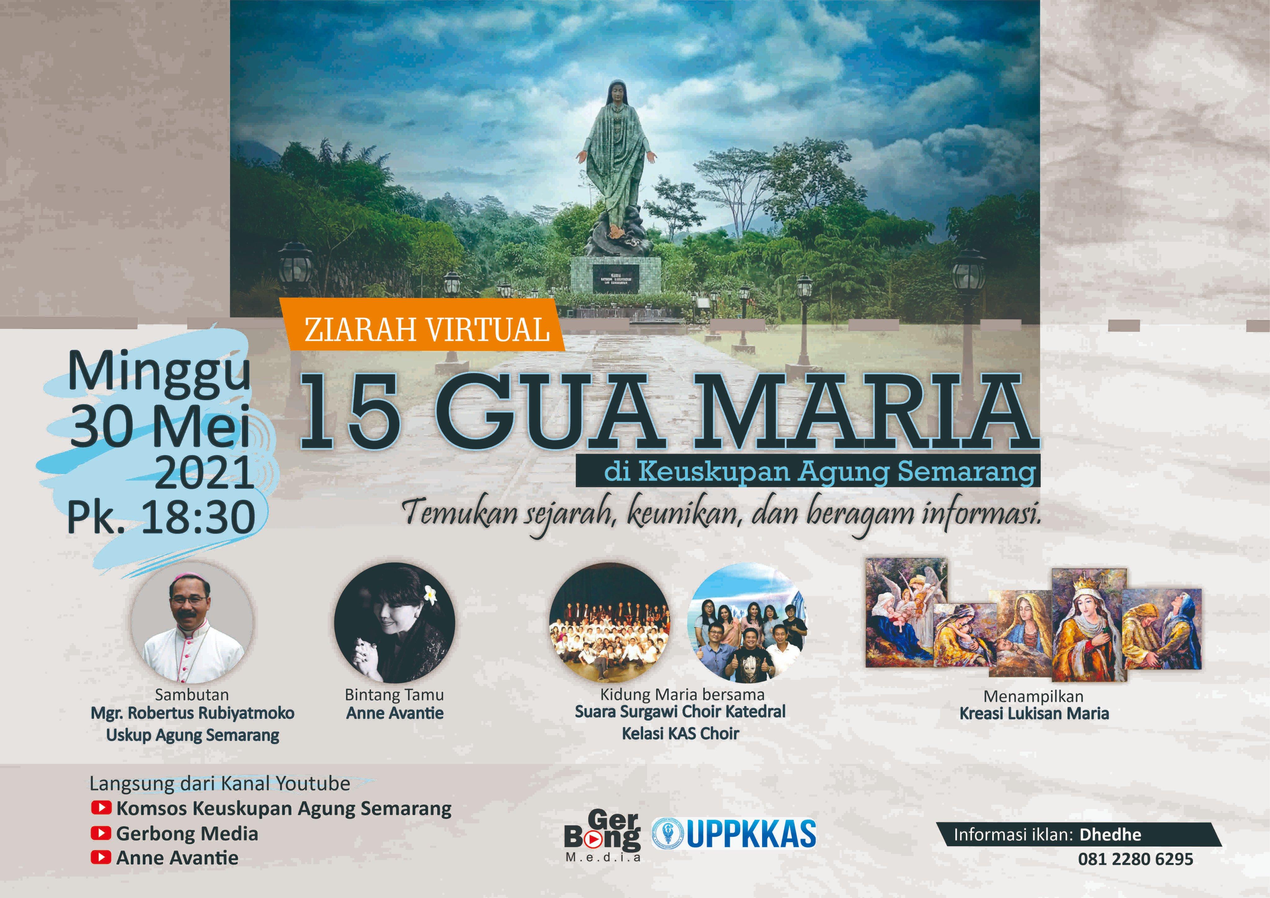 Ziarah Virtual 15 Gua Maria di Keuskupan Agung Semarang