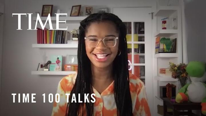 Founder of the #1000BlackGirlBooks campaign @iammarleydias on how the past year has impacted her views on activism, and how students can advocate for more diverse books in the classroom #TIME100Talks https://t.co/J2QBHUhB78