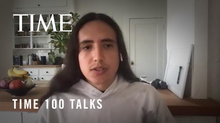 """""""It's a constant struggle."""" Climate activist @xiuhtezcatl on whether he is optimistic about the Biden Administration's plans to tackle climate change #TIME100Talks https://t.co/w6QwYviM3q"""