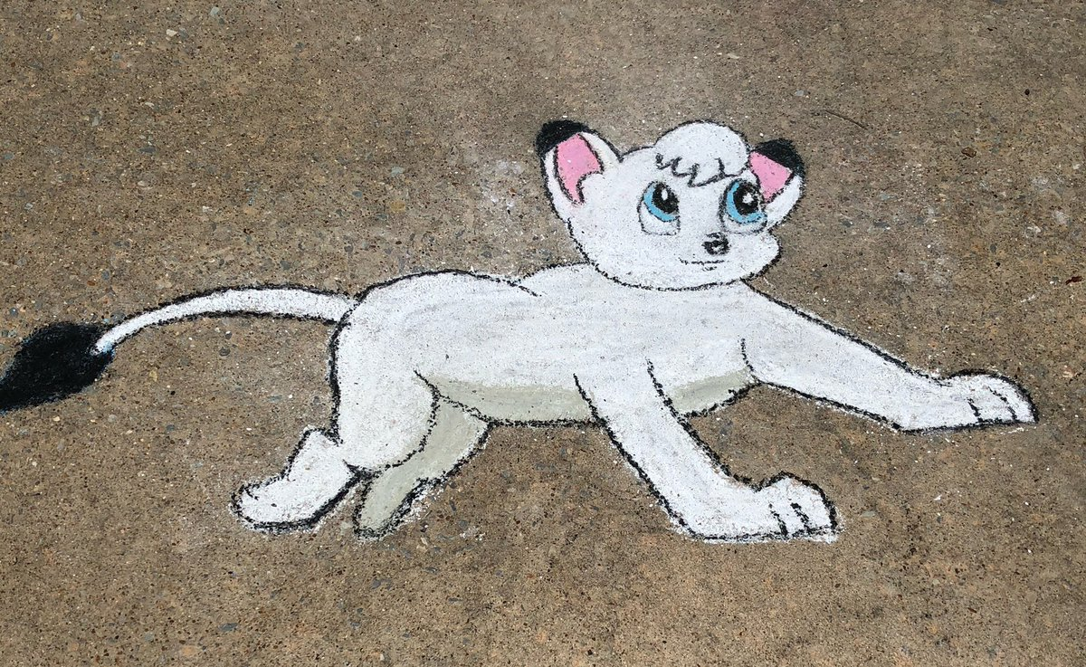 Kimba the white lion  #kimba #cartoon #Chalkart #Chalkyourwalk #chalkyourwalk #chalkartist #drivewayart #Drivewayart #drivewaychalkartist #sidewalkart #sidewalkchalkart #sidewalkchalkartist https://t.co/9FwBS436xn