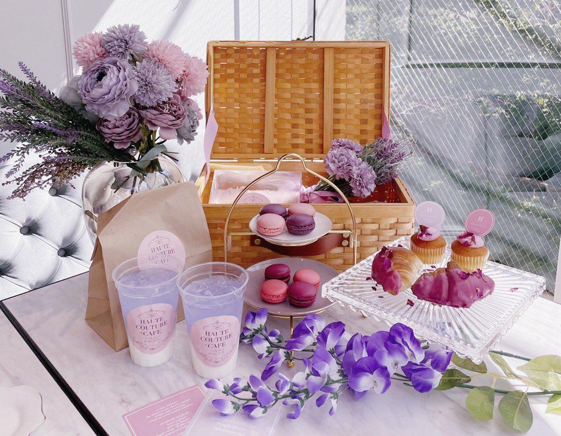 中目黒の「HAUTE COUTURE CAFE」の藤の花をイメージしたピクニックアフタヌーンティーが可愛いと話題に!