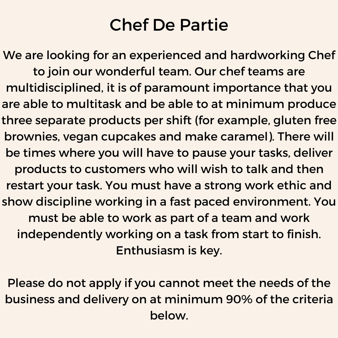 Bakeevencakery On Twitter We Are Hiring Do You Have What It Takes To Join Our Wonderful Team Apply Today By Emailing Your Cv And A Cover Letter To Hello Bakeevencakery Com Bakeevencakery Hiring Job