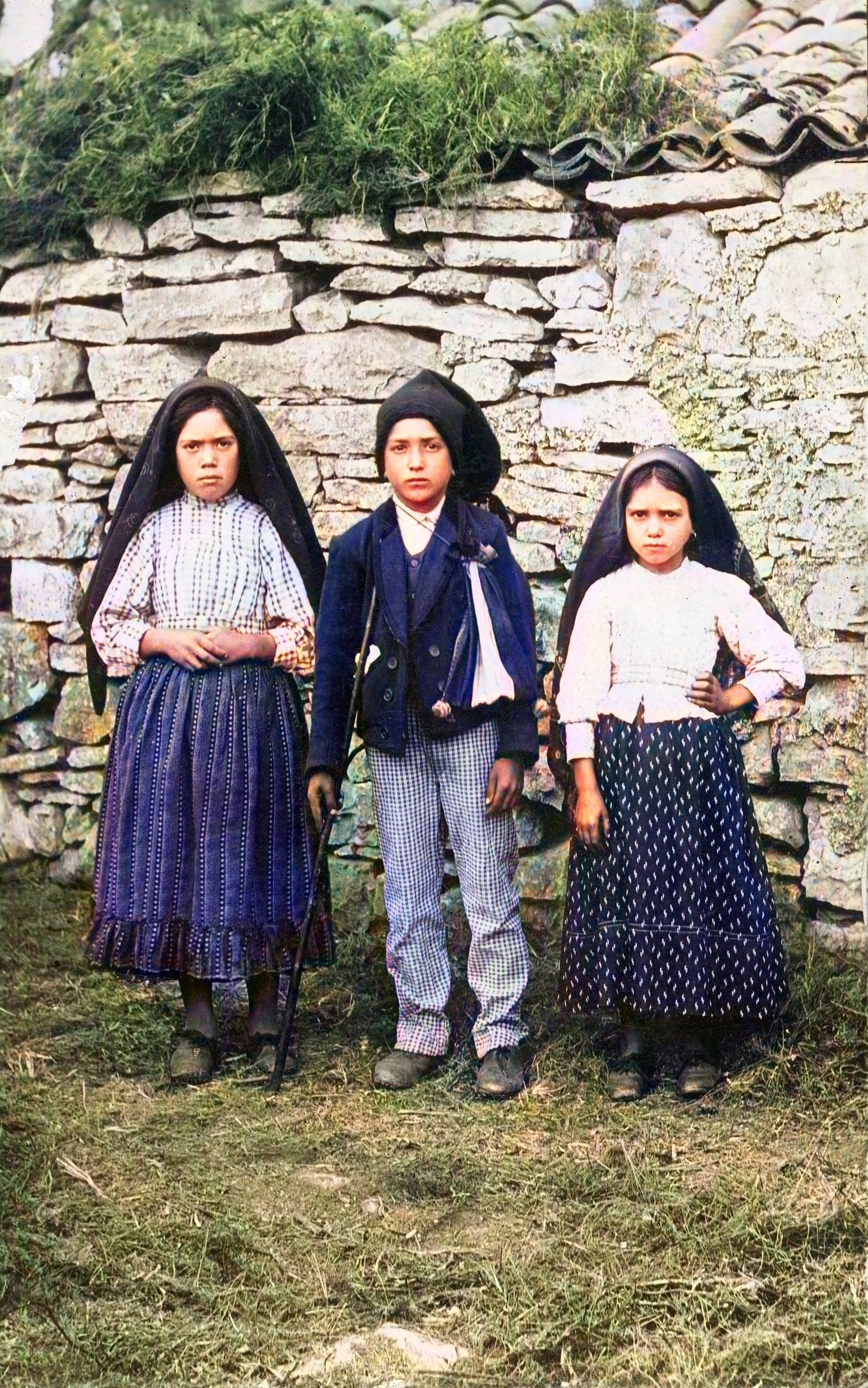 Os pastorinhos de Fátima, Lúcia, Francisco e Jacinta