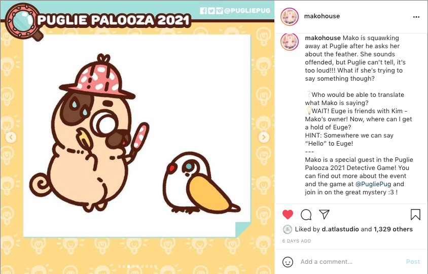 Snapshot of Makohouse's Instagram post of the Detective Comic.