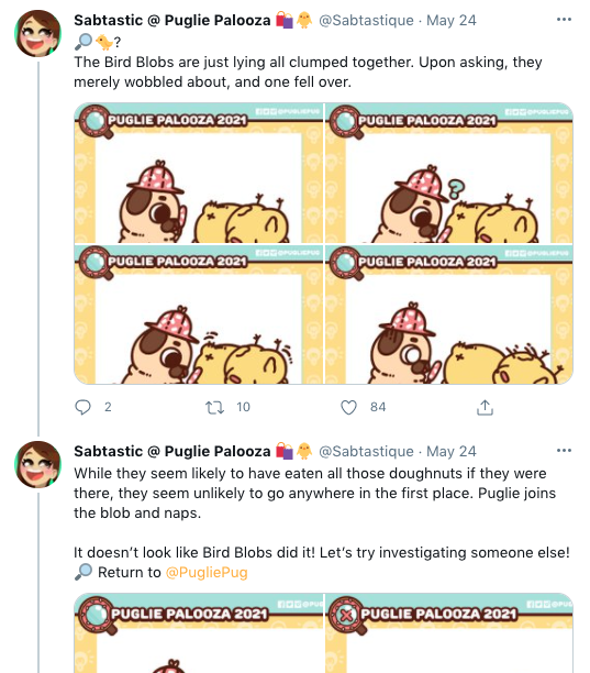 Snapshot of Sabtastic's Twitter posts of the Detective Comic.