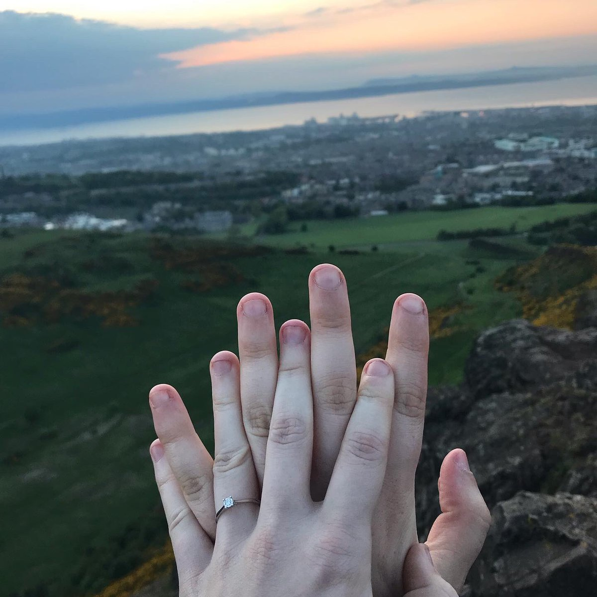 As the sun went down over Edinburgh she got down on one knee and asked me to marry her…   And I said the easiest YES I'll ever say! @Charlot52504401 https://t.co/Aj8tMuF75J
