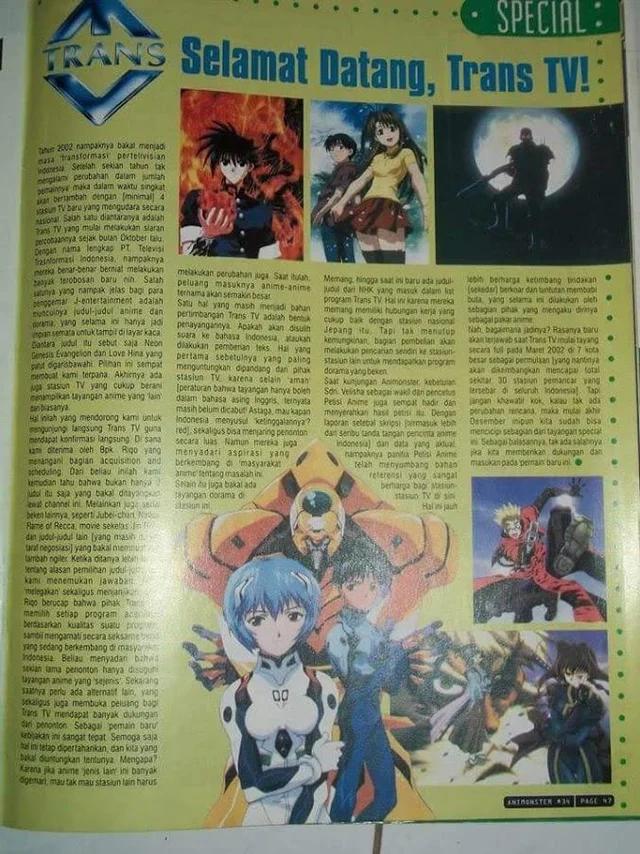 anime trans tv majalah animonstar